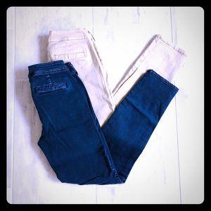 2 Pairs of Bullhead Denim Co Skinny Chinos Jeans